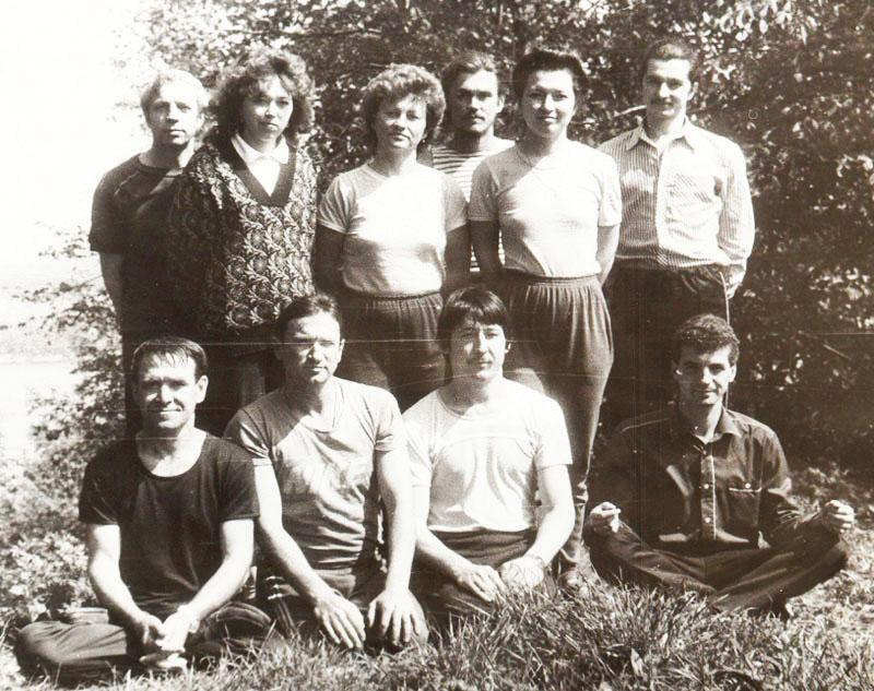 Первый выпуск дипломированных преподавателей йоги в России, 1989