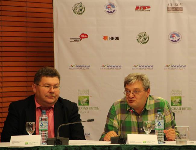 Председатель экспертного совета премии А.В.Беляев и руководитель Верхне-Волжского УГМС В.В.Соколов